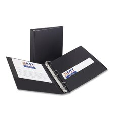 "Economy Round Ring Reference Binder, 1-1/2"" Capacity, Black"