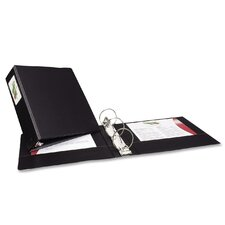 "Economy Round Ring Reference Binder, 3"" Capacity, Black"