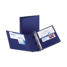 Durable Slant Ring Reference Binder, 3in Capacity, Blue