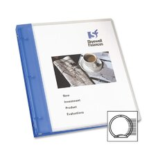 "Flexible Presentation Binder, View Pocket, 1"" Capacity, Blue"