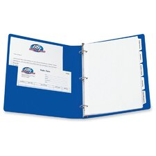 "Durable Vinyl View Binder, 11 x 8-1/2, 1"" Capacity, Blue"
