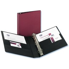 Durable EZ-Turn Ring Reference Binder, 8-1/2 x 11, 1-1/2in Capacity, Burgundy
