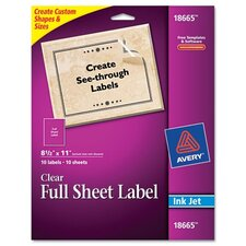 Easy Peel Mailing Labels for Inkjet Printers, 10/Pack