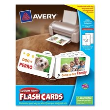 Custom Print Flash Card with 8 Divider Tabs and Ring