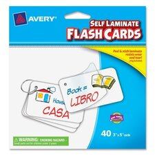 Write on Self Laminate Flash Card (40 Per Card)