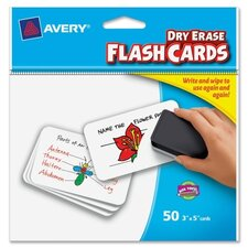 Write on Dry-erase Flash Card (50 Per Card)
