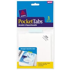 PocketTab Repositionable Pocket and Tab, 5 x 5 1/2, Taupe