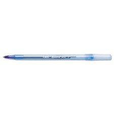 Round Stic Ballpoint Stick Fine Pen, 12/Pack