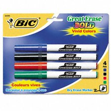 Great Erase Bold Pocket Style Dry Erase Fine Point Markers (4/Pack)