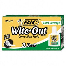20 Ml Bottle Wite-Out Extra Coverage Correction Fluid (3/Pack)