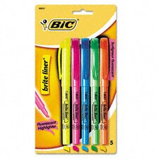 <strong>Bic Corporation</strong> Chisel Tip Brite Liner Highlighter (Set of 5)