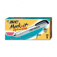 <strong>Bic Corporation</strong> Mark-it Retractable Permanent Marker