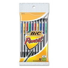 Mechanical Pencils, Mini, 0.7mm w/ 3 Leads, 10 per Pack, Assorted