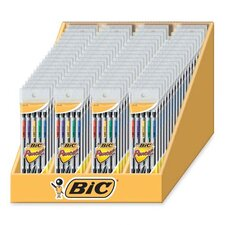 <strong>Bic Corporation</strong> Mechanical Pencils, 0.7mm, 72 per Set, Black Barrel/Assorted, Pocket Clip
