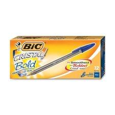 Cristal Ballpoint Stick Pen, 12/Pack