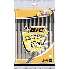 10 Count Cristal Bold Pen in Black