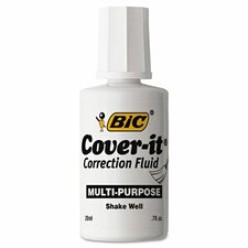 <strong>Bic Corporation</strong> Cover-It Correction Fluid (Pack of 12)