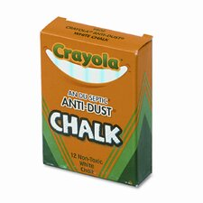<strong>Crayola LLC</strong> Nontoxic Anti-Dust Chalk (12 Sticks/Box)