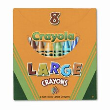 Large Tuck Box Crayons (8/Box)