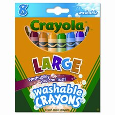 <strong>Crayola LLC</strong> Large Washable Crayons (8/Box)
