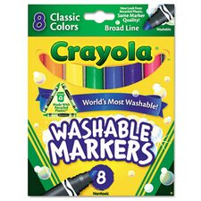 Washable Broad Point Markers (8/Pack)