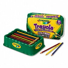 3.3 Mm Colored Wood Pencil Trayola (9 Assorted Colors, 54 Pencils/Set)