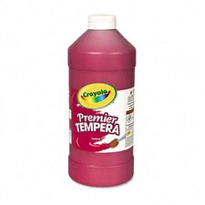Premier Tempera Paint, Red, 16 Ounces
