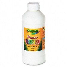 <strong>Crayola LLC</strong> Premier Tempera Paint, White, 16 Ounces