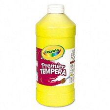 Premier Tempera Paint, Yellow, 32 Ounces
