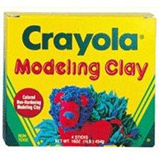 Modeling Clay 4 Pcs Rd/yw/bl/gr
