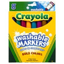 Washable Bold Colors Mkr 8 Pk