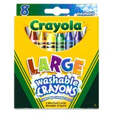 Washable Crayons Large 8ct