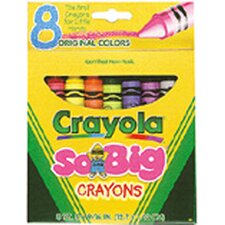 <strong>Crayola LLC</strong> Crayons Jumbo 8ct Peggable Tuck Box