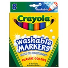 <strong>Crayola LLC</strong> Washable Coloring Markers 8 Colors