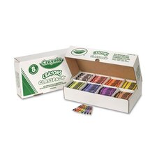 Classpack Regular Crayons 8 Colors (800 per Box)