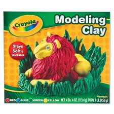 <strong>Crayola LLC</strong> Modeling Clay Assortment, 1/4 Lb Each, 1 Lb