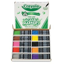 <strong>Crayola LLC</strong> Washable Classpack Markers (8 Assorted, 200/Box)