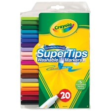 Super Tips Washable Markers (20 Pack)