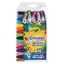 Pip-Squeaks Washable Marker (16 Pack)