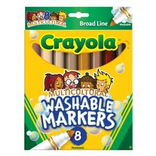 <strong>Crayola LLC</strong> Washable Multi-Cultural Markers (8 Pack)