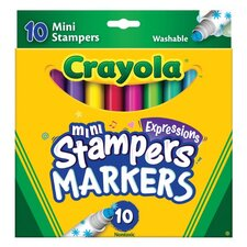 Mini Stampers Washable Markers (10 Pack)