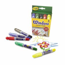 <strong>Crayola LLC</strong> Washable Window Crayons (5 Pack)