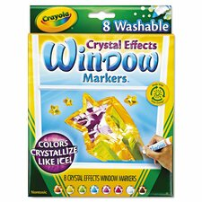 Crystal Effects Washable Window Markers (8 Pack)