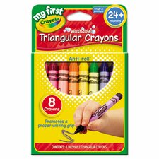 My First Washable Triangular Wax Crayons (8 Pack)