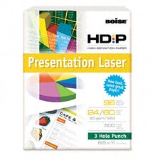 96 Brightness Hd:P Presentation Laser 3 Hole Punch Paper (500/Rm)