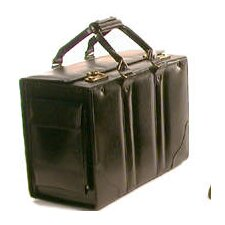 <strong>Bond Street, LTD.</strong> Double Handle Catalog Case Leather Laptop Briefcase