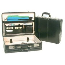 Large Expander Leather Attache Case