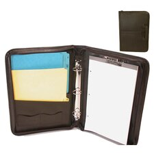 Legal Size Leather-Look Sliding Handles Legal Padfolio