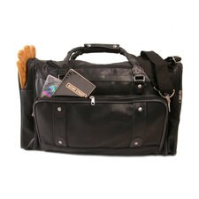 "21.25"" Leather Travel Duffel"