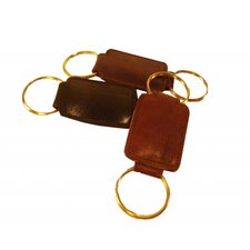 Crocket Glazed Cow Hide Leather Key Fob
